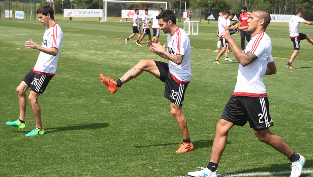 Tras el pase a la final, River se movió en Ezeiza