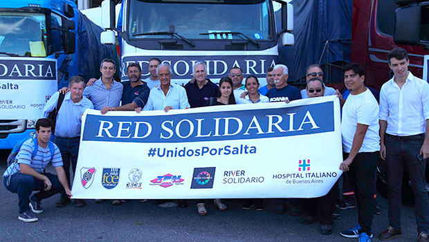 River y Red Solidaria, unidos por Salta