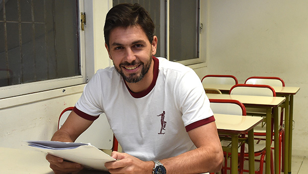 Germán Lux se recibió en el Instituto River