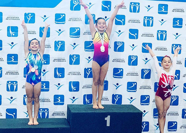 Gimnastas riverplatenses con 18 medallas