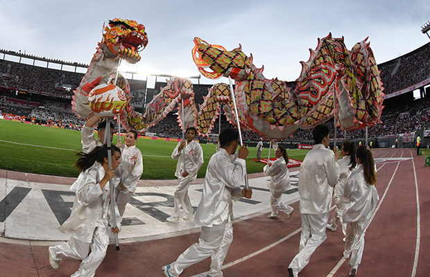 Event at the Monumental Stadium for the Chinese New Year