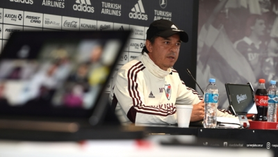 Conferencia de prensa virtual de Marcelo Gallardo en River Camp